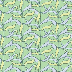 Rows of leaves