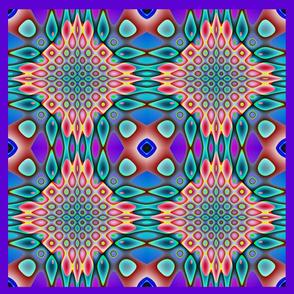 GIMP pillow graphic qbist tiled pillow top
