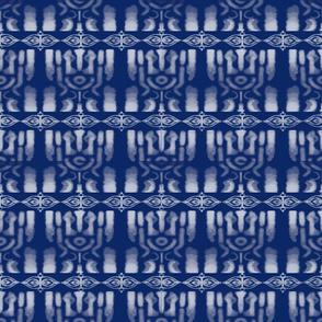 Indigo Tie-dye Shibori #2 Wht & Blue