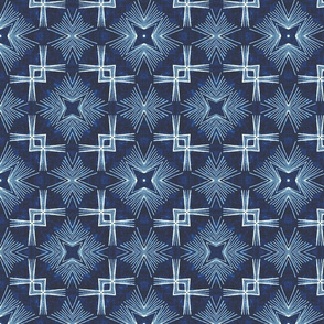 Crossover Corners Star Burst, Indigo