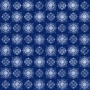 Indigo Tie-Dye Shibori #1-Dark.Bkgd