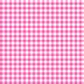 Pink Gingham Check  Large