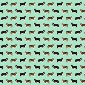 TINY - sheltie dog fabric tri colored black and tan sheltie shetland sheepdog sable and white dogs, best dog fabric