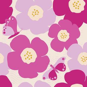 Purple Summer LARGE (Off White Background)