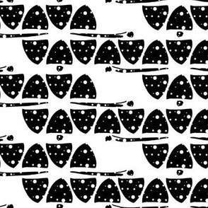 Black & White Dotted Triangles Abstract Minimalism