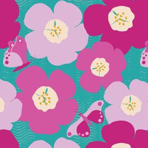 Purple Summer LARGE (Turquoise Background)
