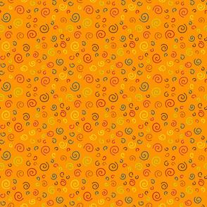 Curlicues on Orange