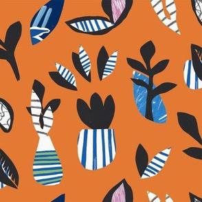 Plants & Pots (Orange)