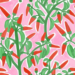 Painterly Chilli Pink