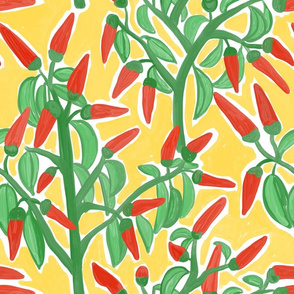 Painterly Chilli Yellow