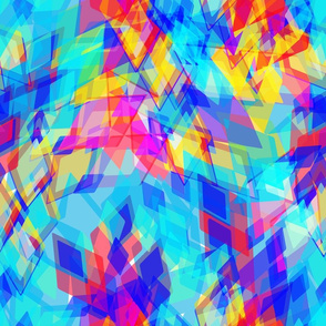 Abstract geometric pattern with rhombus and brilliant. yellow purple pink blue aqua  geometric print