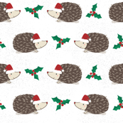 Hedgehog Christmas with Holly- extra small scale