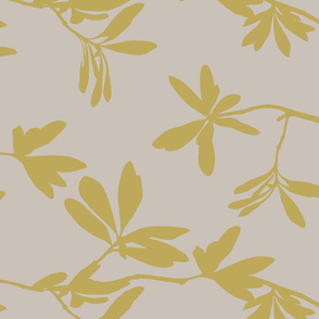 Chartreuse leaves on tan