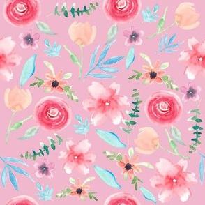 Rainbow Florals Pink