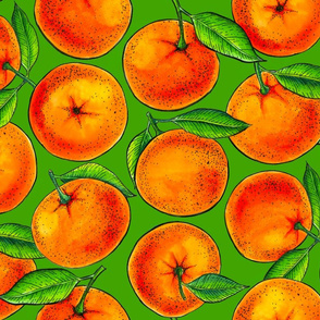Oranges on green