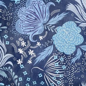 indigo floral abundance