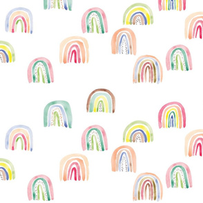 rainbows watercolor multi