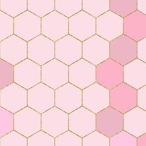 Mixed Pinks Honeycomb