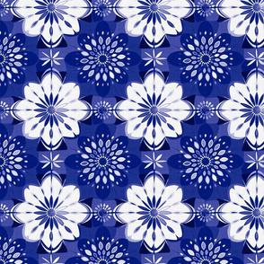 Shibori flower | cobalt