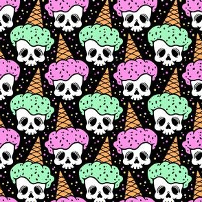 Skulls with Ice Cream Cone Hats