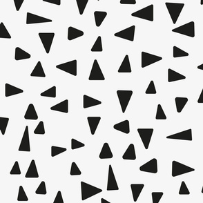 Abstract Black triangles on white