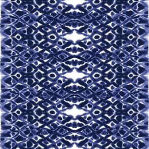 Shibori diamond plaid