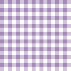 Gingham//Purple - 1 inch