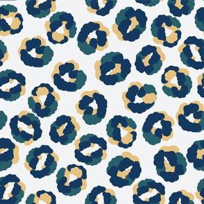 Animal print Army green blue mustard