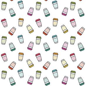 Rainbow Coffee Cups