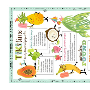 Tropical Pops Tea Towel