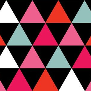 Black Blue Pink Red Triangles
