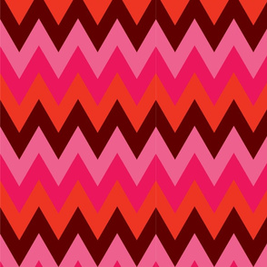 Pinks Red Burgundy Chevron