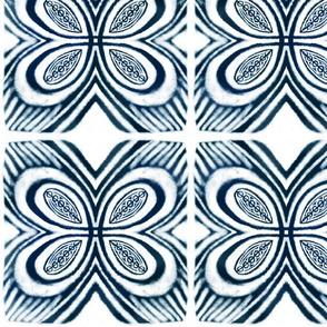 shibori indigo butterfly