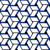 Geometry, blue black and white
