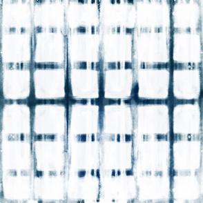 shibori indigo square