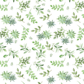 Fresh Greenery smaller pattern