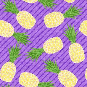 Pineapples - Purple stripes - Summer - LAD19