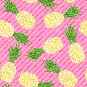 Pineapples - Pink stripes - Summer - LAD19