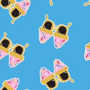 Ice cream Sunnies - summer sunglasses - blue - LAD19