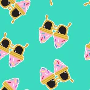Ice cream Sunnies - summer sunglasses - teal - LAD19