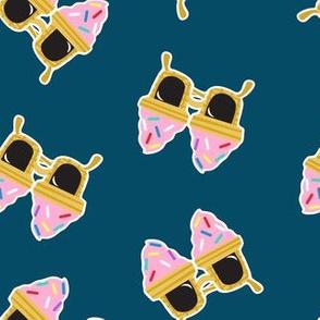Ice cream Sunnies - summer sunglasses - dark blue -  LAD19