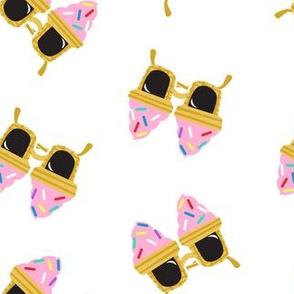 Ice cream Sunnies - summer sunglasses - white - LAD19