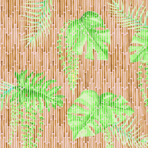 The Curtain to Tropical Paradise Bright Green