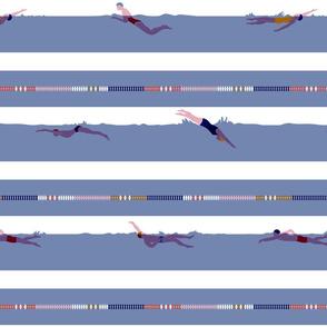 swimming laps breton stripes _ candy