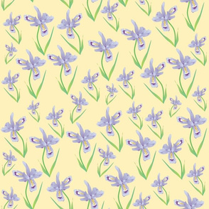 Wild Iris Lace - light mustard