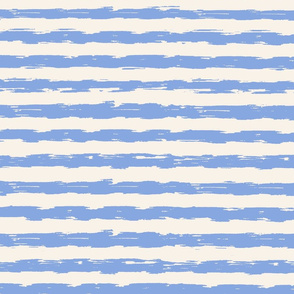 sketchy stripes - periwinkle and cream