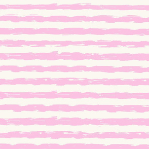 sketchy stipes - light pink and white