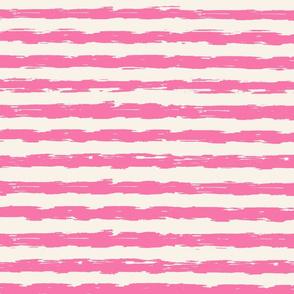 sketchy stripes - dark pink and cream