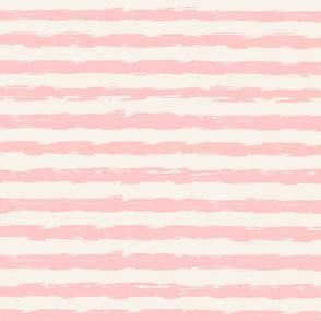 sketchy stripes - blush and cream