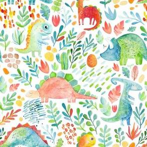 Dino pattern floral
